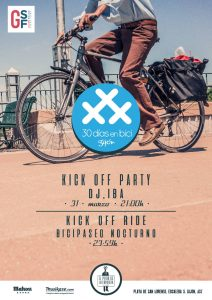 Cartel Kick off Party 2017 - 30 Días en Bici Gijón